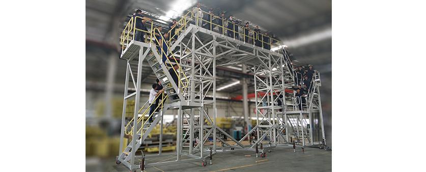 militery aircraft radome maintenance dock