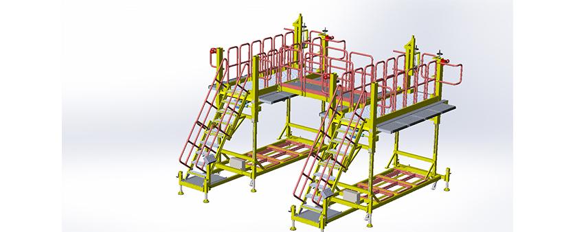 Combined portable work platform