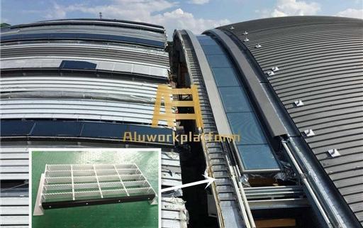 aluminum roof walkway