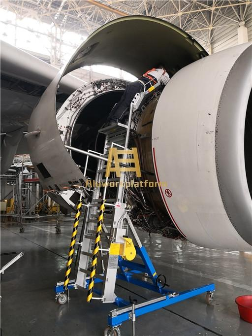 aircraft engine maintenance platform