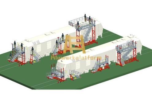 rail vehicle work platform