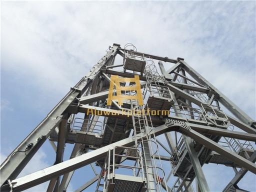 oil drilling platform walkway