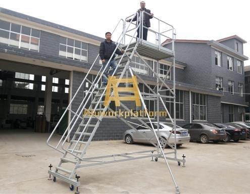 aluminum mobile work platform