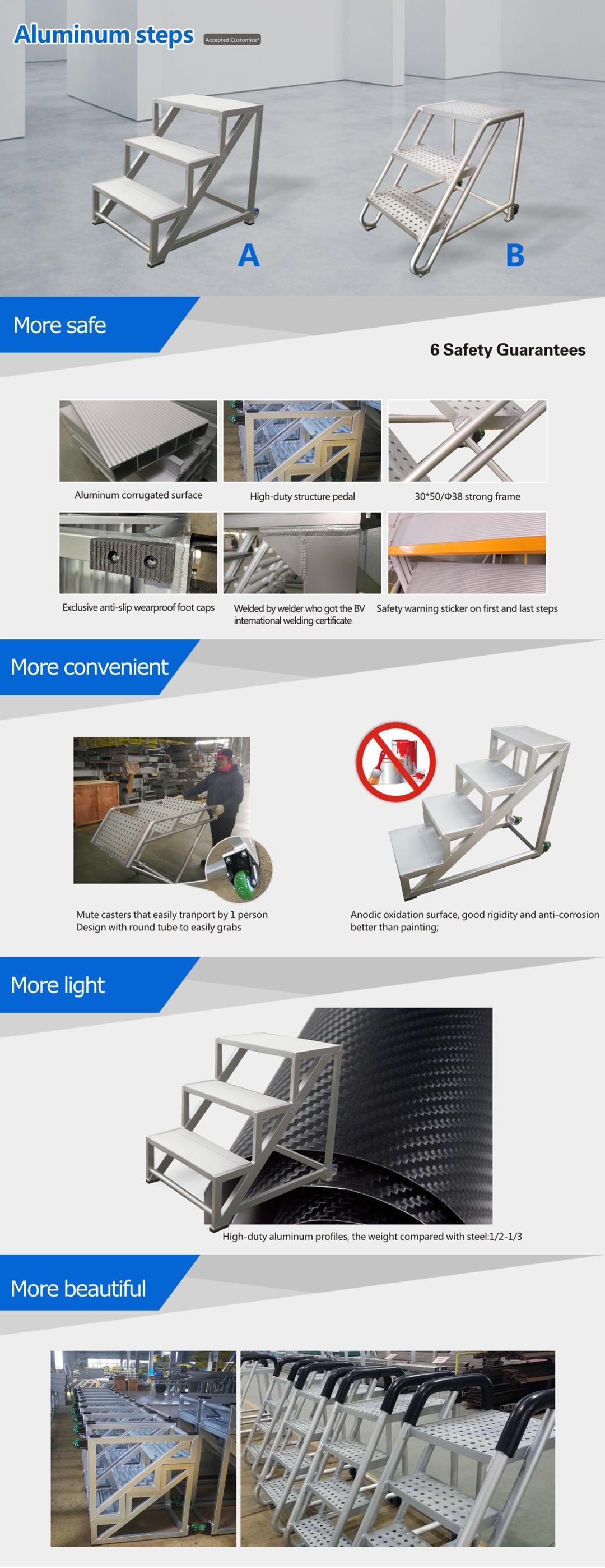aluminium mobile steps