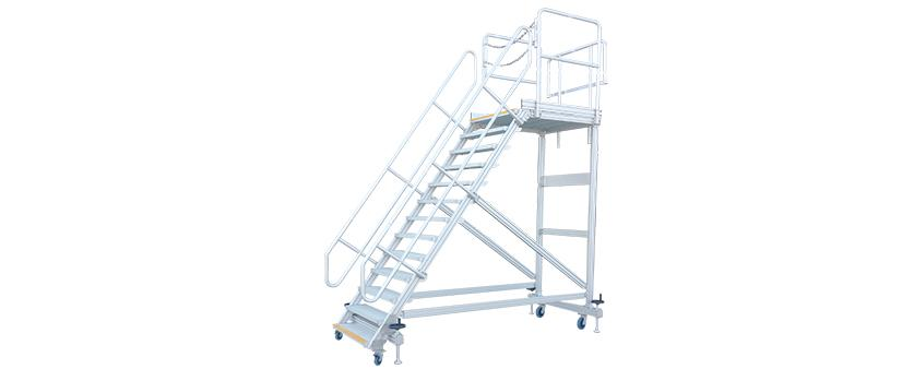 portable stairs with platform