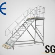 aluminum step platform