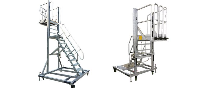 aluminum height adjustable work platform