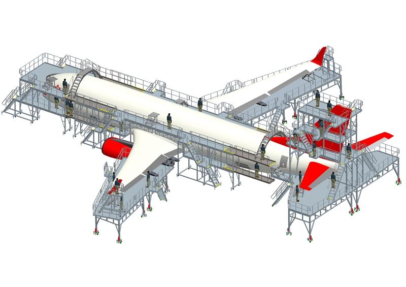 A320 maintenance docking system