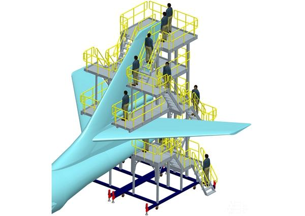 aircraft assembly tail dock