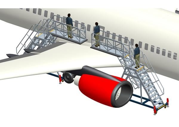 aircraft wing maintenance platform