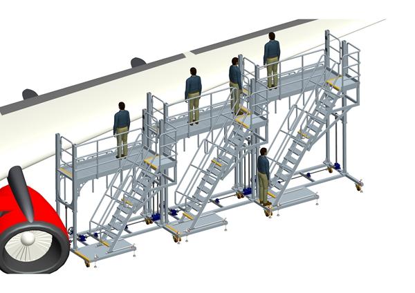 height adjustable wing dock