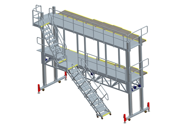 fuselage dock with extending panel