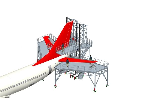 aircraft maintenance tail dock