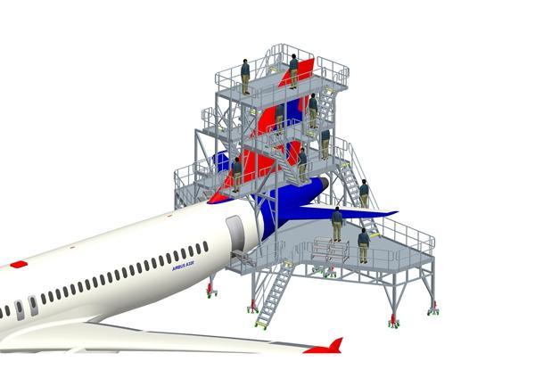 aircraft stabilizer maintenance dock