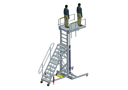 wheel well work platform
