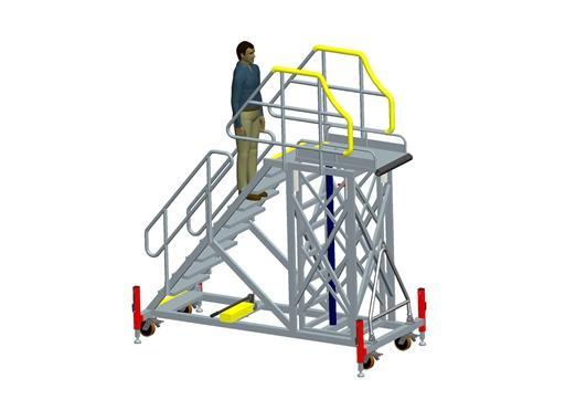 Aircraft Engine Maintenance Ladder Aircraft Maintenance