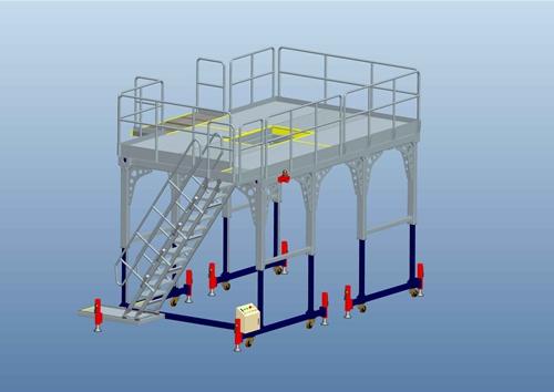 landing gear work platform