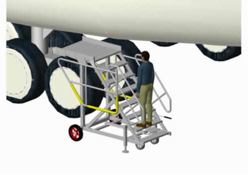 landing gear access platform
