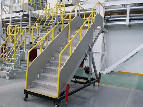 aluminum passenger stairs