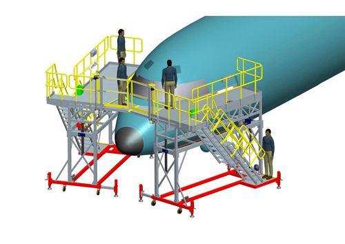 aircraft nose maintenance dock