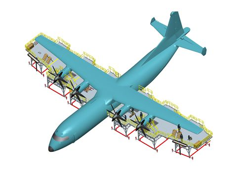 aircraft wing dock