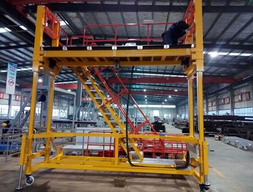 aluminum access platform for train
