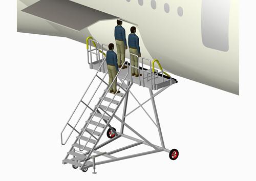 cargo door access platform