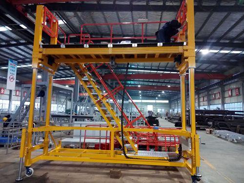 adjustable height train access platform