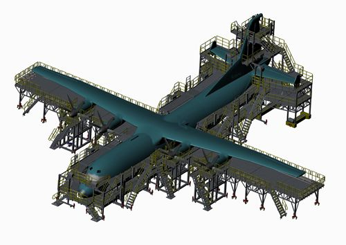 aircraft maintenance docking system