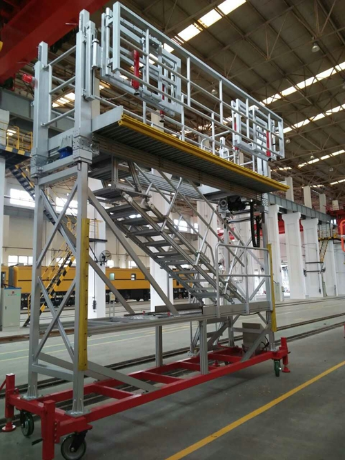 height adjustable aluminum work platform