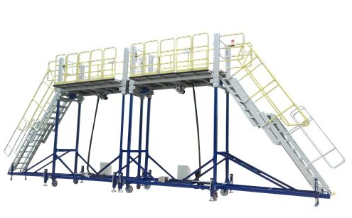 aluminium rail side access platform
