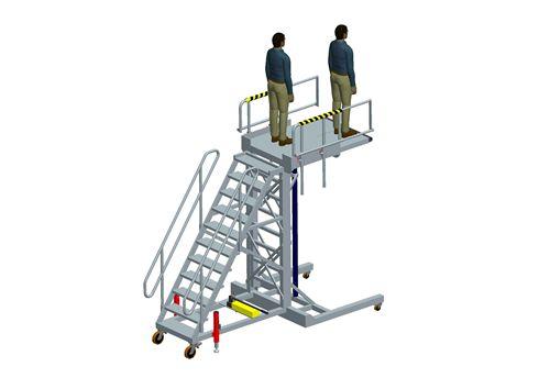 wheel well access platform