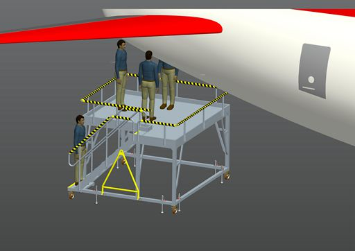 aircraft APU maintenance platform