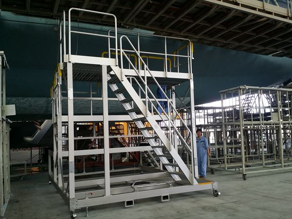 aircraft painting work platform