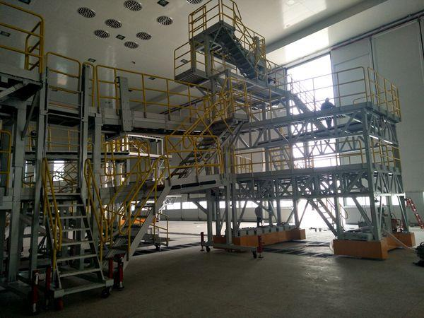 aircraft stabilizer painting dock