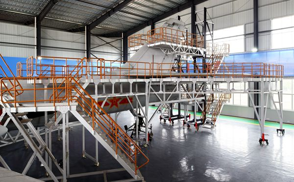 aircraft fuselage maintenance dock