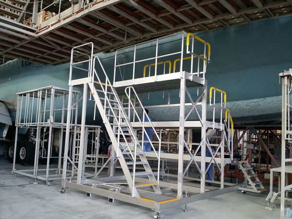 aircraft painting platform