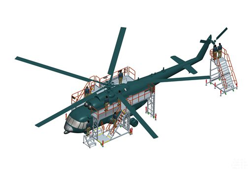 helicopter inspection platform