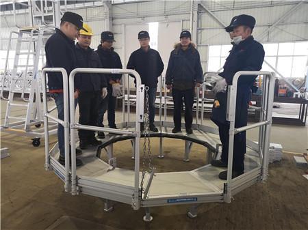 aluminum round work platform