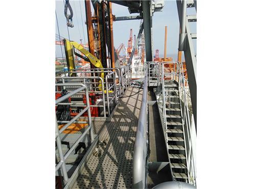 offshore platform aluminum walkway