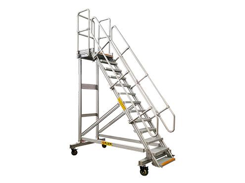 industrial aluminum mobile ladder