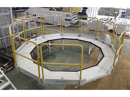 OEM aluminum round work platform