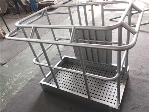 caged work platform
