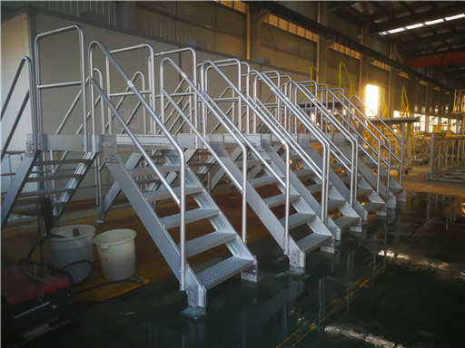 aluminum crossover stairs