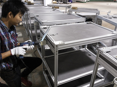 aluminum rolling table
