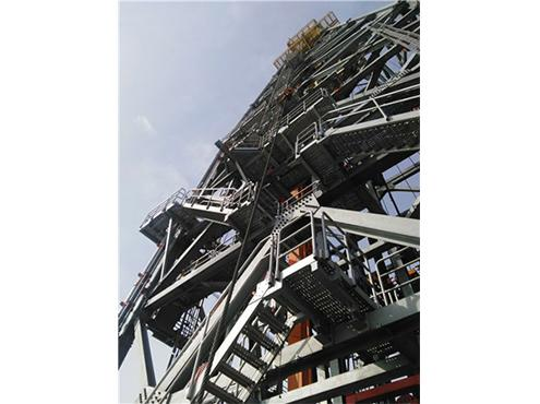 oil drilling platform walkway and stairs