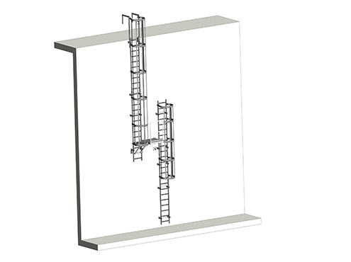 roof access safety ladder