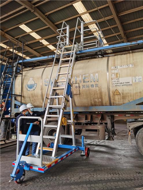 mobile tanker loading platform