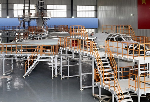H6 military aircraft maintenance docking system