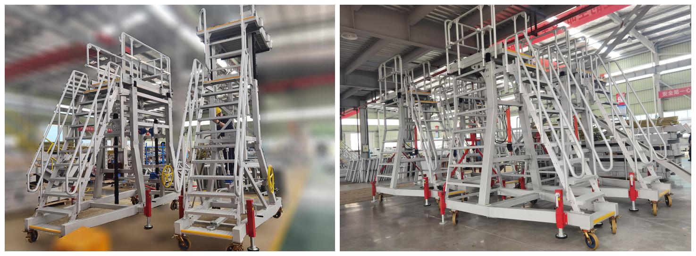 hydraulic height adjustable platform